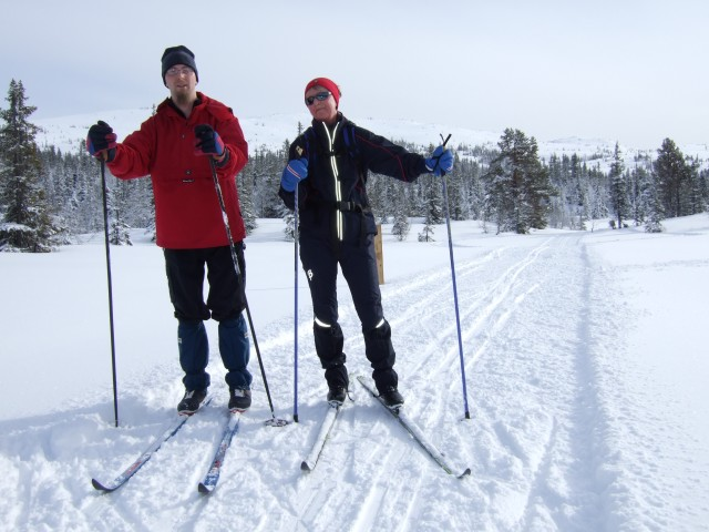 Me and Mom Skiing